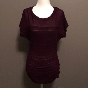 The Limited purple short sleeve knit sweater